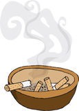 Extremos que fuman ilustración del vector