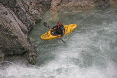 Extremsport kayaking in the Riss valley Stock Image