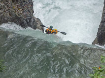 Extremsport kayaking in the Riss valley Royalty Free Stock Image