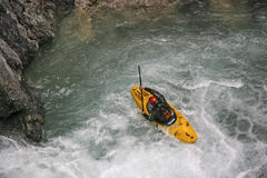 Extremsport kayaking in the Riss valley Royalty Free Stock Photos