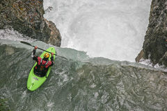 Extremsport kayaking in the Riss valley Stock Images