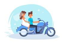 Extremt bröllop vektor cartoon royaltyfri illustrationer