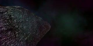 Extremt detaljerad och realistisk hög illustration för upplösning 3d av en interstellär asteroid Arkivbild
