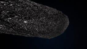 Extremt detaljerad och realistisk hög illustration för upplösning 3d av en interstellär asteroid Arkivfoton