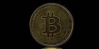 Extremt detaljerad och realistisk hög illustration för upplösning 3D Bitcoin stock illustrationer