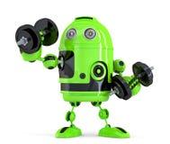Extremt kraftig robot begrepp isolerad teknologiwhite Innehåller den snabba banan Royaltyfria Foton
