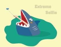 Extremt selfiebegrepp Illustration för vektor för handdanandeselfie Arkivbild