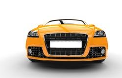 Extremt slut för gul bil upp Arkivbild