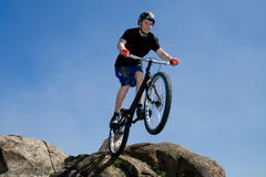 extremt trick för cykel Arkivfoto