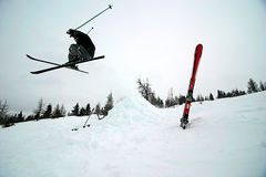 Extrene Skifahren Lizenzfreies Stockfoto