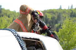 Extrication stock photography