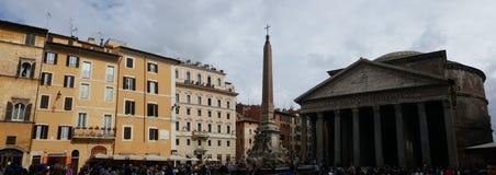 Extérieur de Panthéon, Rome, Italie Photos libres de droits