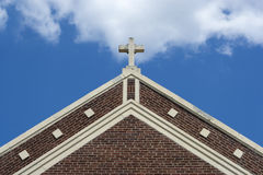 Extérieur en travers d'église Photos libres de droits