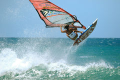 Extrim femail Windsurfing in Jericoacoara Royalty Free Stock Photography