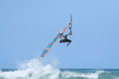 Extrim Windsurfing in Jericoacoara Royalty Free Stock Photography