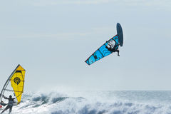 Extrim Windsurfing in Jericoacoara Royalty Free Stock Image