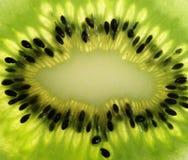 Extrime Abschluss oben der Kiwifrucht Lizenzfreie Stockfotografie