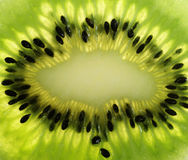 Extrime close up  of kiwi fruit Royalty Free Stock Photography