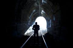 Extrémité de tunnel Photo libre de droits