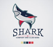 Extrémité et affaires de sport de logo de requin Photos stock