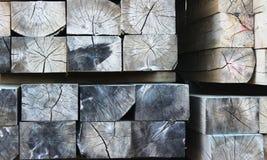 Extrémités de bois de charpente Photo stock