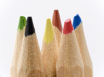 Extrémités de crayon Photos libres de droits