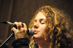 extrodinare歌唱者 库存照片