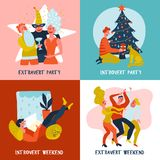 Extrovert Introvert Design Concept Stock Photo
