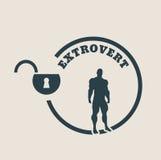 Extrovert metaphor icon Stock Photos