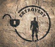 Extrovert metaphor icon Royalty Free Stock Image