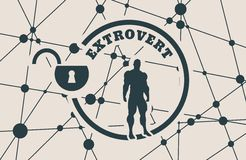 Extrovert metaphor icon Royalty Free Stock Photography