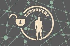 Extrovert metaphor icon Stock Image