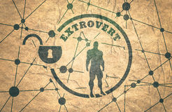Extrovert metaphor icon Stock Photography