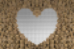 Extrude heart shape abstract background Royalty Free Stock Images