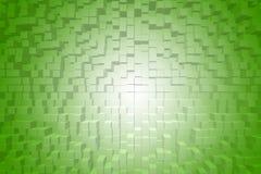 Extrude zielony gradientowy abstrakcjonistyczny tło Obrazy Royalty Free