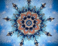 Extruded abstract structure mandala Stock Photo