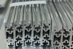 Extruded Aluminium Channel Stock Image