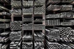 Extruded Aluminum Metal Tubes Stock Photos