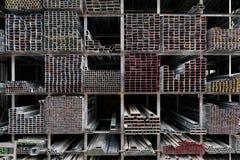 Extruded Aluminum Metal Tubes. Siem Reap, Cambodia Stock Image