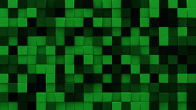 Extruded dark green cubes 3D render. Extruded dark green cubes mosaic. Computer generated abstract geometric background. 3D render illustration Royalty Free Stock Image