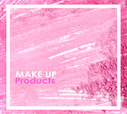 Extruded frame in a foundation cosmetic powder. For background or texture. Stock Images