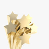 Extruded golden stars on as festive background Royalty Free Stock Photography