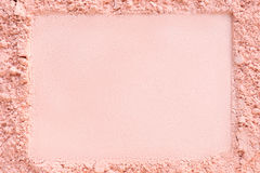 Extruded horizontal frame in a foundation cosmetic powder royalty free stock photo