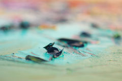 Extruded oil artistic paint - close view Royalty Free Stock Images