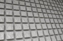 Extruded Square Brick Wall Pattern Stock Photo
