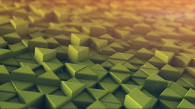 Extruded triangles toned mosaic 3D render. Extruded triangles toned mosaic. 3D render abstract background Royalty Free Stock Photos