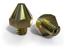 Extruder nozzles for 3D printer Royalty Free Stock Images