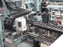 Extrusion aluminium machine Stock Photo