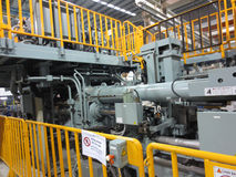 Extrusion aluminium machine Stock Images