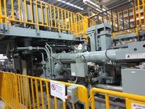 Extrusion aluminium machine Stock Images
